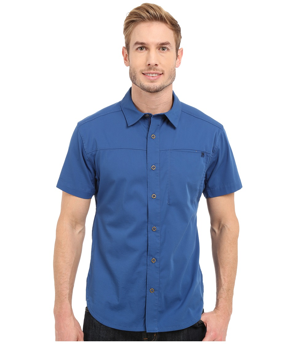 Black Diamond - Short Sleeve Stretch Operator Shirt (Denim) Men