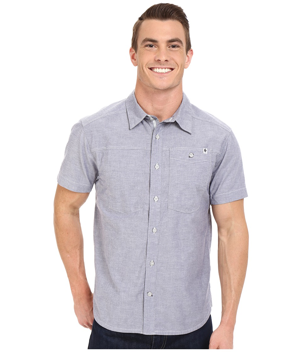 Black Diamond - Short Sleeve Chambray Modernist Shirt (Indigo) Men's Short Sleeve Button Up