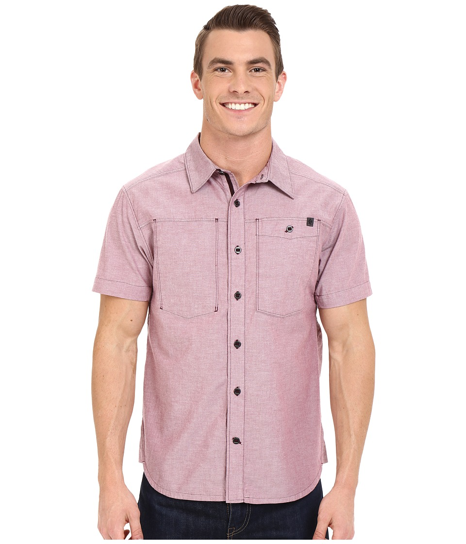 Black Diamond - Short Sleeve Chambray Modernist Shirt (Port) Men's Short Sleeve Button Up