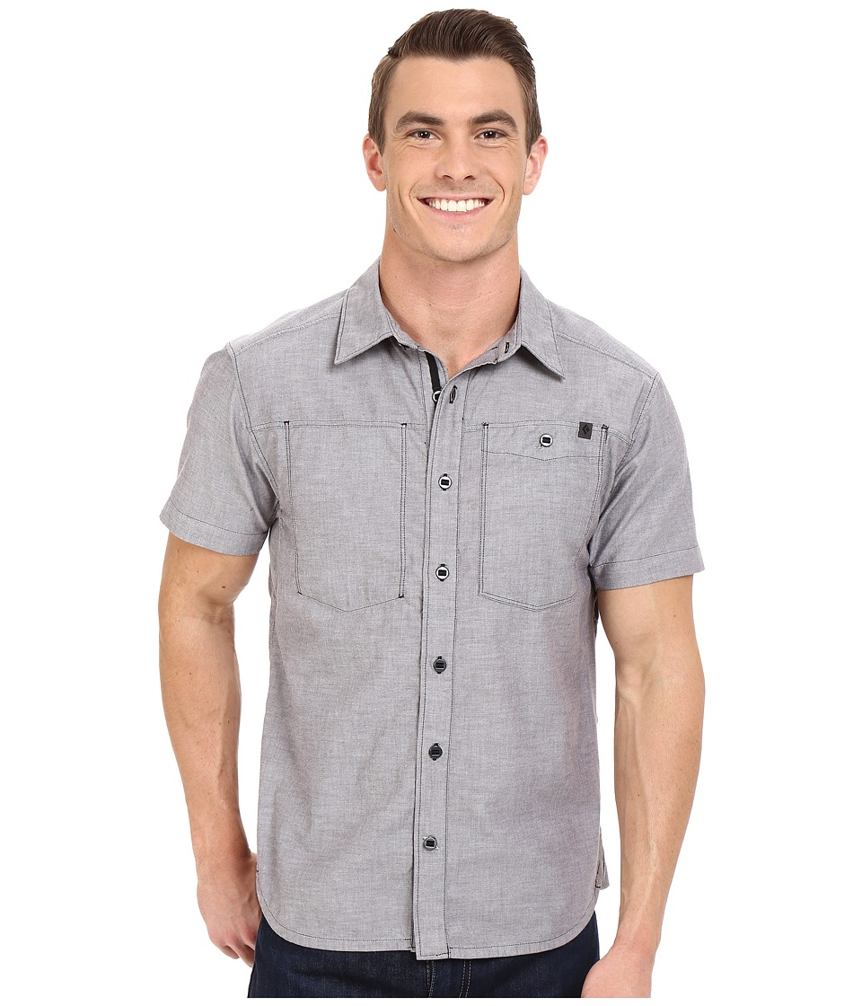 Black Diamond - Short Sleeve Chambray Modernist Shirt (Slate) Men's Short Sleeve Button Up