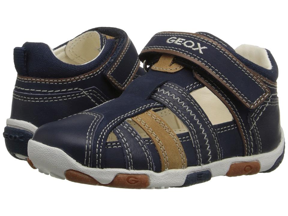 Geox Kids - Baby Balu Boy 51 (Infant/Toddler) (Navy/Caramel) Boy's Shoes