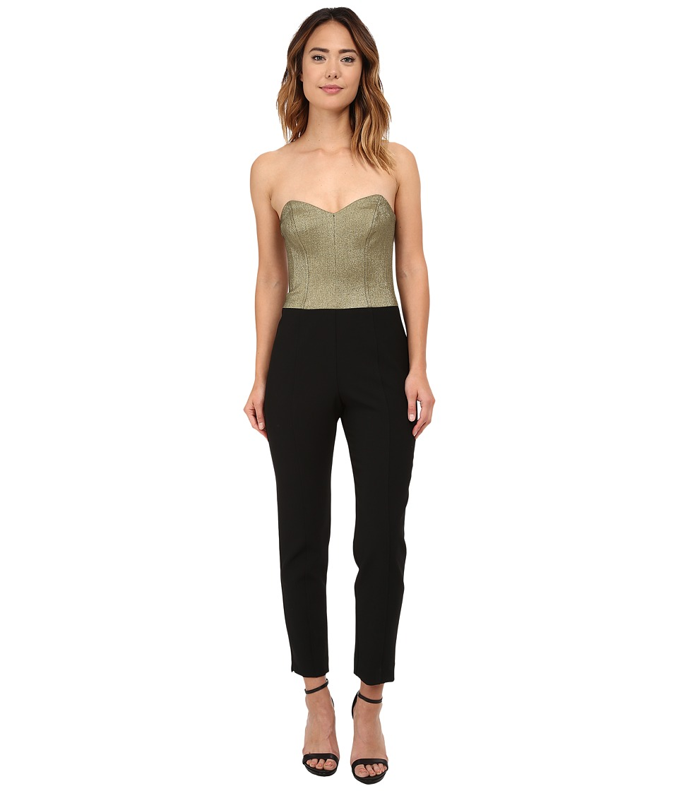 Trina Turk - Vendetta Jumpsuit (Black/Gold) Women's Jumpsuit & Rompers One Piece