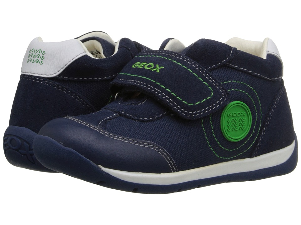 Geox Kids - Baby Each Boy 7 (Infant/Toddler) (Navy/Green) Boy's Shoes