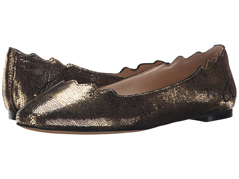 Sam Edelman - Augusta (Bronze Metallic Mini Lizard Leather) Women's Dress Flat Shoes