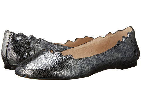 Sam Edelman - Augusta (Pewter Metallic Mini Lizard Leather) Women's Dress Flat Shoes