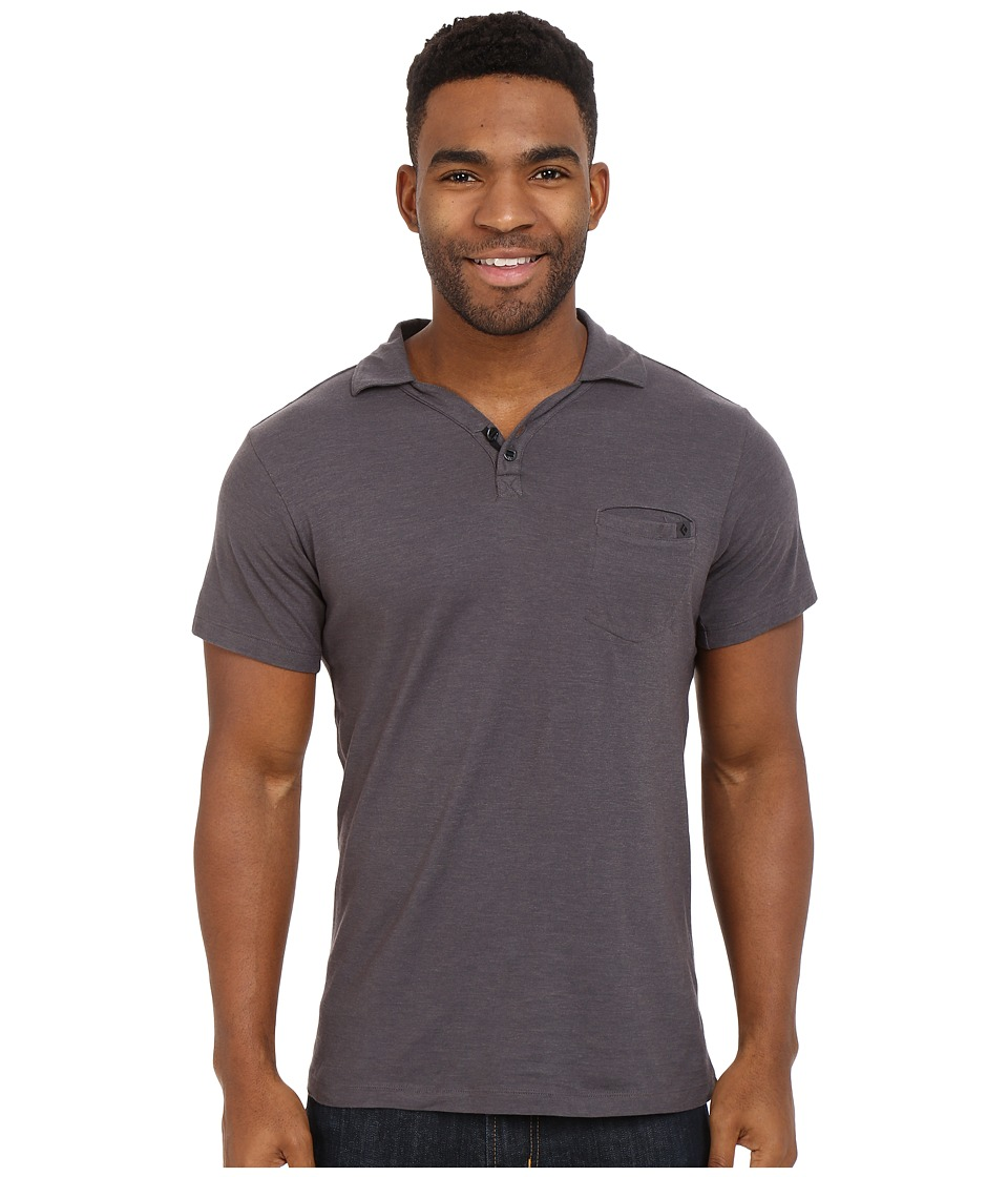 Black Diamond - Cottonwood Polo (Slate) Men's Short Sleeve Pullover