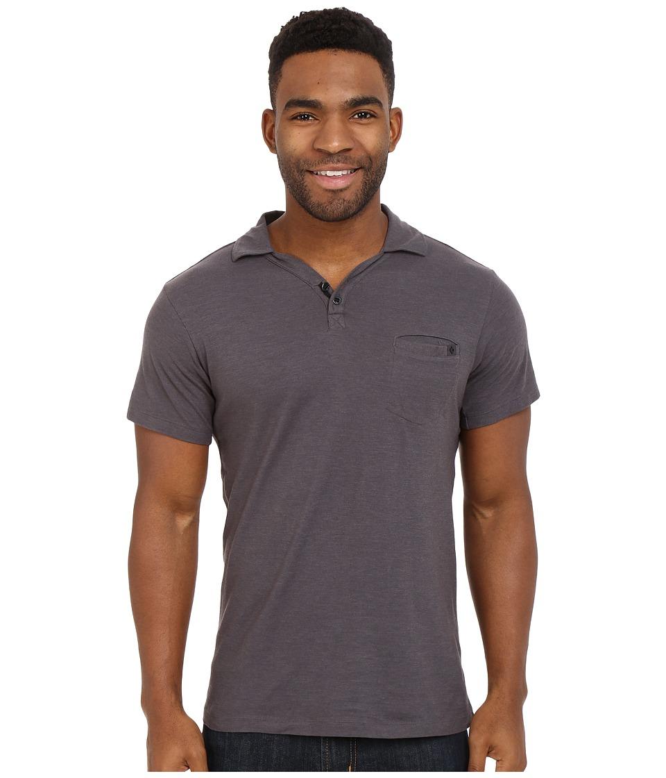 Black Diamond - Cottonwood Polo (Slate) Men's Short Sleeve Pullover