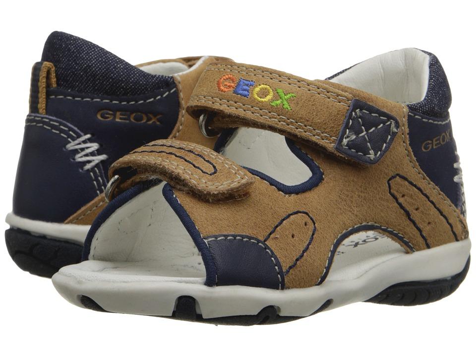 Geox Kids - Baby Sandal Elba Boy 22 (Infant/Toddler) (Caramel/Navy) Boys Shoes