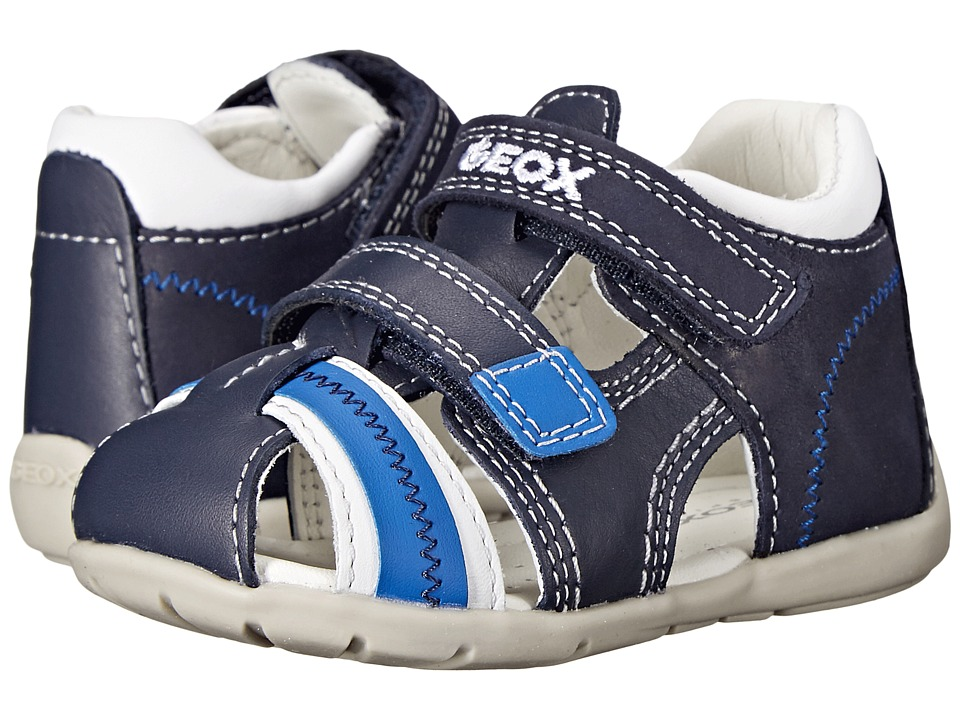 Geox Kids - Baby Kaytan Boy 18 (Infant/Toddler) (Navy/White) Boy's Shoes