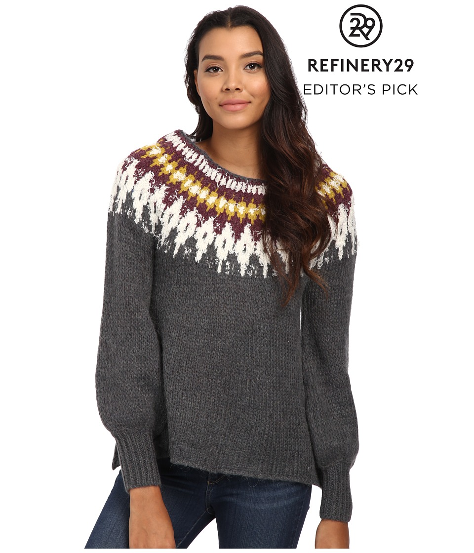 Free People - Baltic Fairisle Pullover (Grey Combo) Women's Sweater