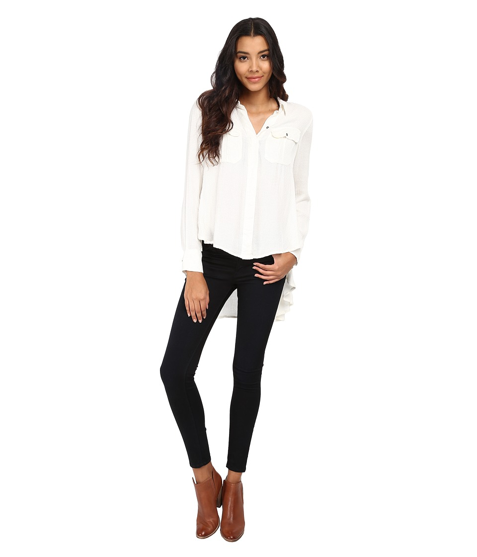 Free People - One of the Guys Button Down (Ivory) Women's Clothing
