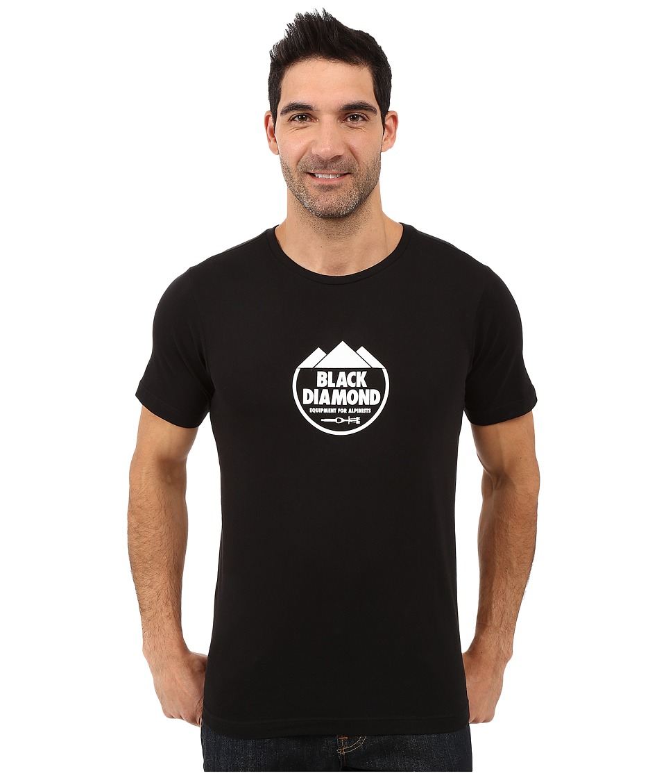 Black Diamond - Short Sleeve Alpinist Crest Tee (Black) Men's T Shirt