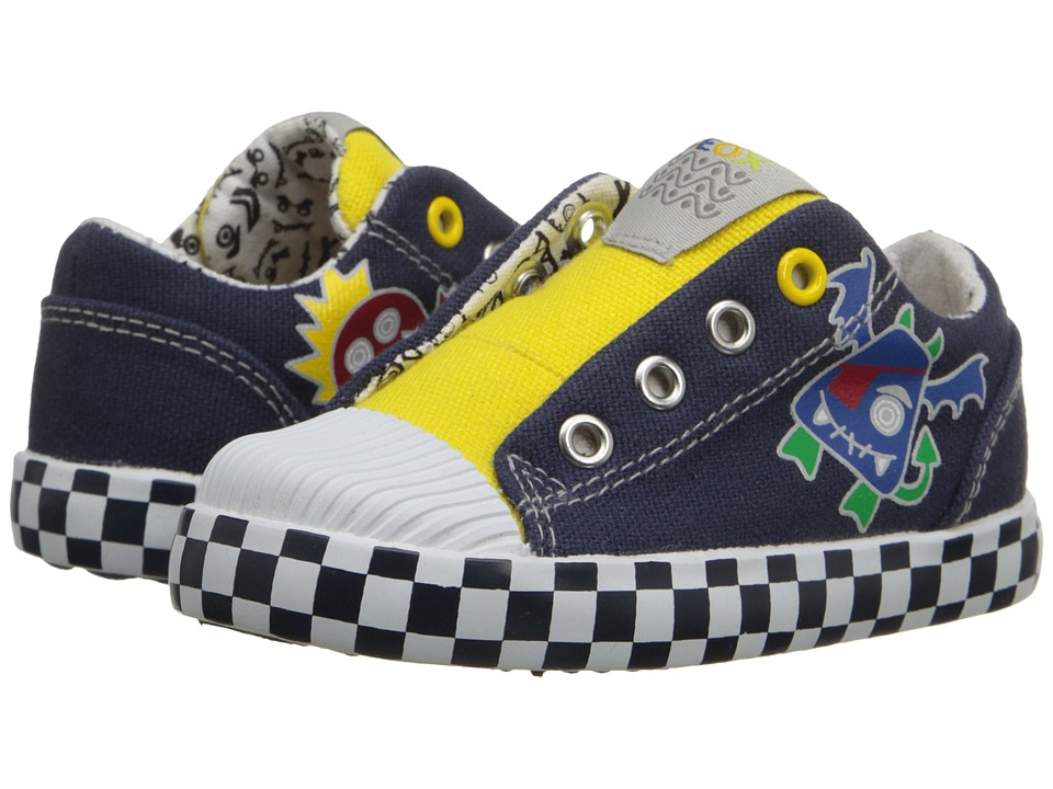 Geox Kids - Baby Kiwi Boy 65 (Toddler) (Navy/Yellow) Boy's Shoes