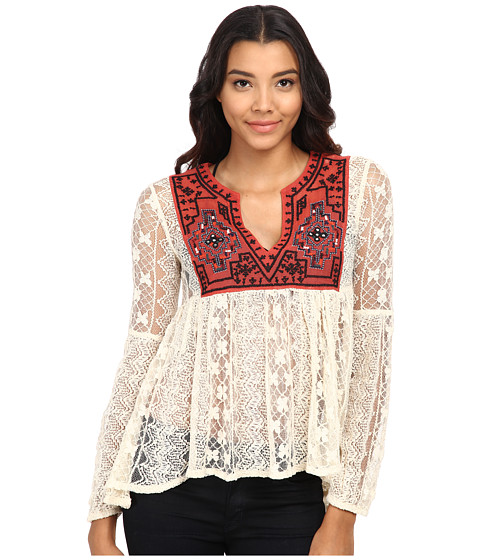 Free People - Lace Casablanca Tunic (Ivory Combo) Women's Blouse