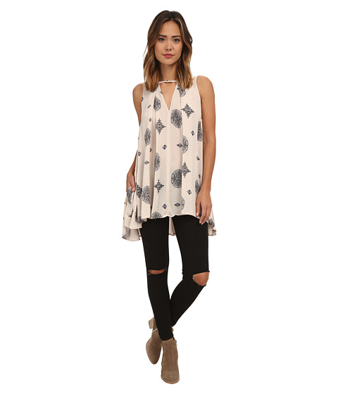 Free People - Sleeveless Tree Swing Tunic (Tea Combo) Women
