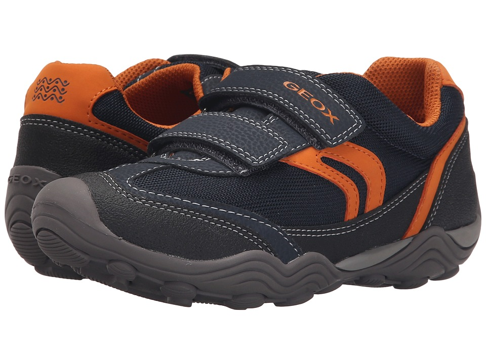 Geox Kids - Jr Arno Boy 10 (Big Kid) (Navy/Orange) Boys Shoes