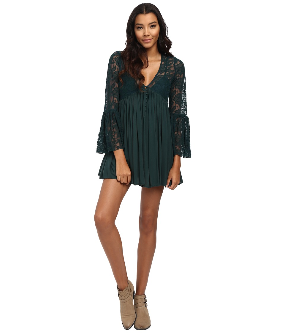 Free People - With Love from India Dress (Dark Emerald) Women's Dress