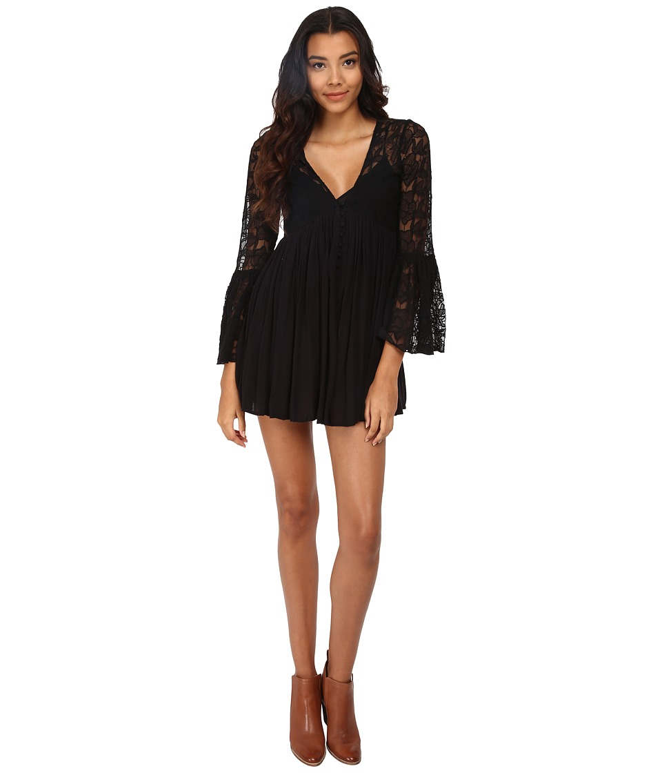 Free People - With Love from India Dress (Black) Women