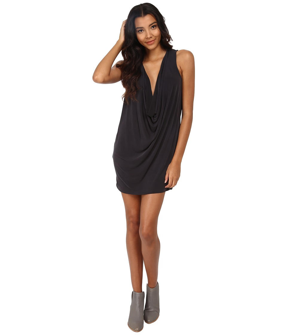 Free People - Cupro Pillow Talk Mini Dress (Black) Women's Dress