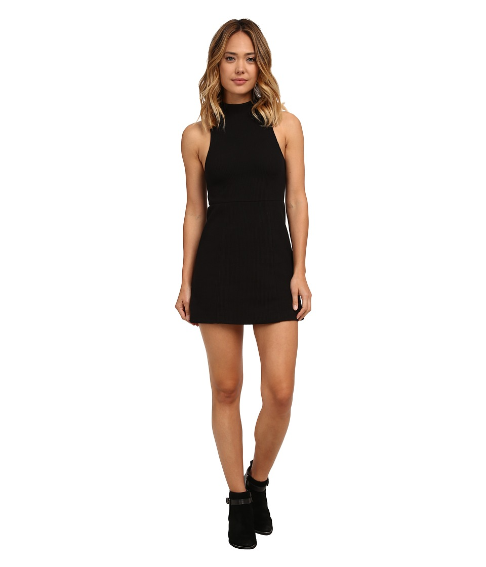 Free People - Maryjane Knit Fit Flare Dress (Black) Women's Dress