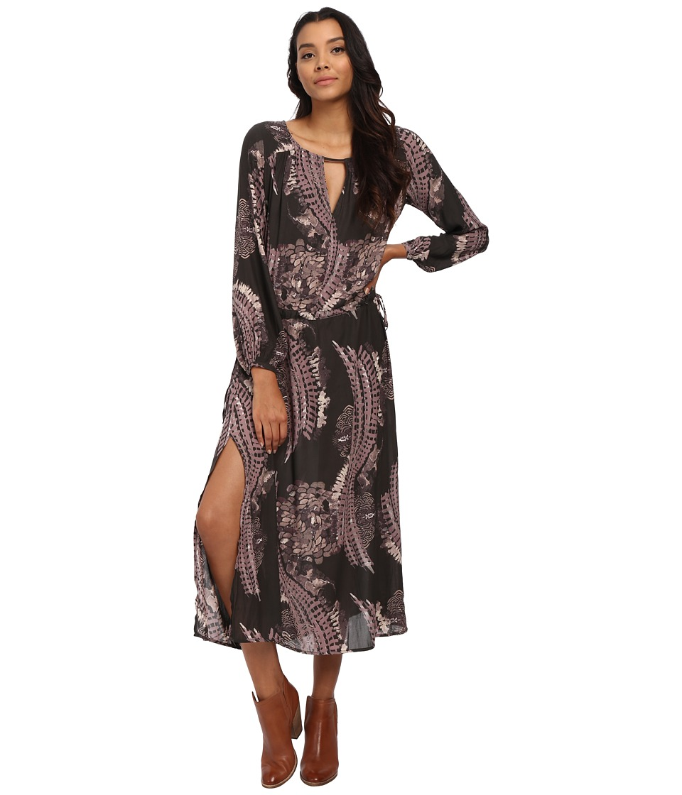Free People - Out of the Woods Dress (Raven Combo) Women's Dress
