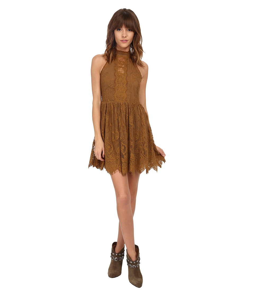 Free People - Verushka Mini Dress (Golden Honey) Women's Dress