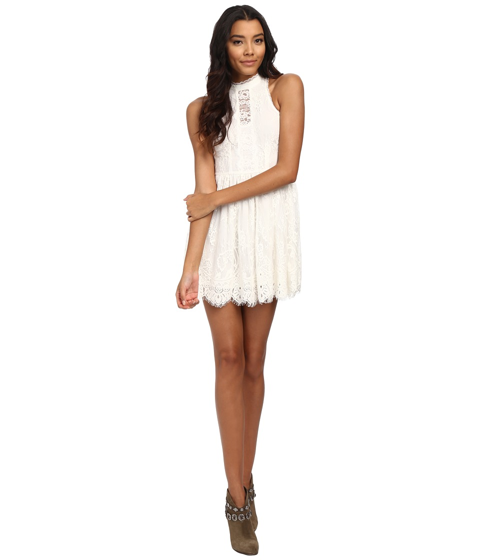 Free People - Verushka Mini Dress (Ivory) Women's Dress