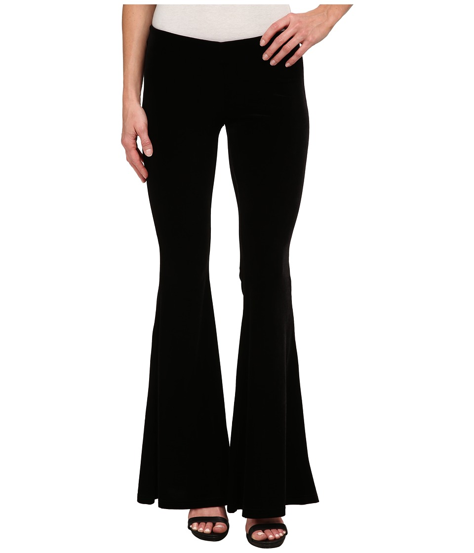 Free People - Solid Velvet Flare Pants (Black) Women's Casual Pants