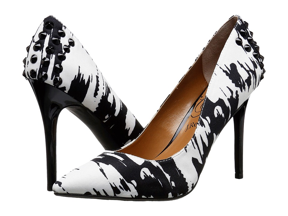 J. Renee Fizzle (Black/White) High Heels
