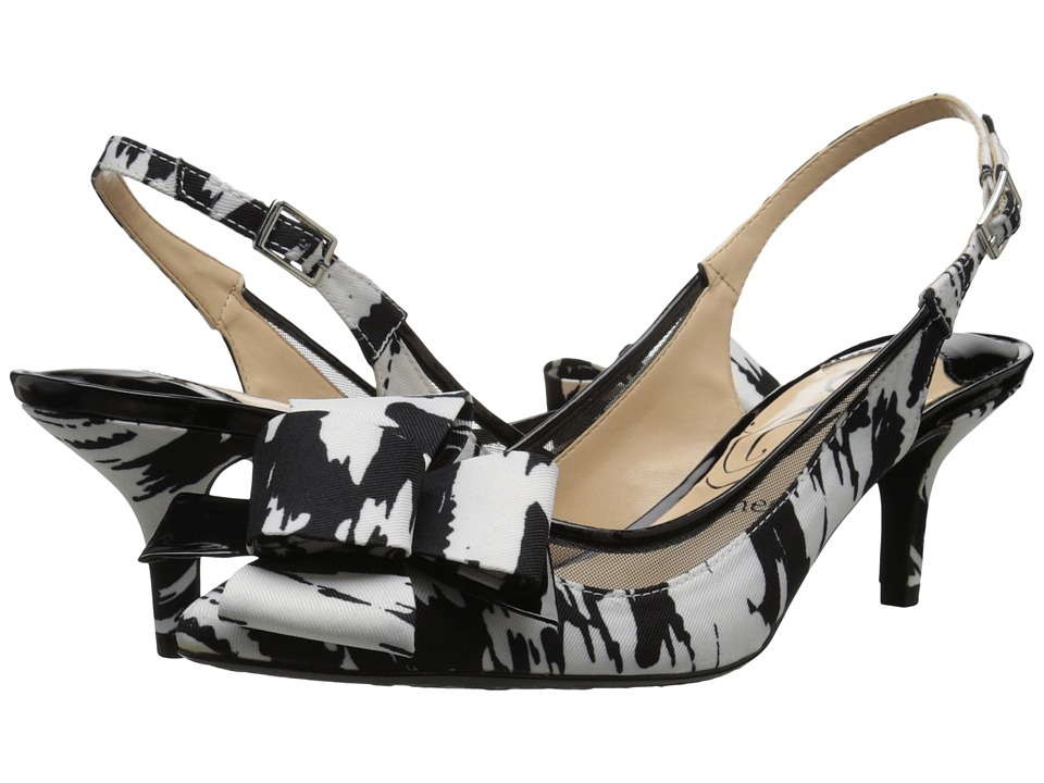 J. Renee Garbi (Black/White) High Heels