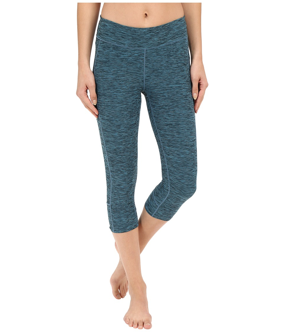 Mountain Khakis - Traverse Tight Capris (Blue Topaz Heather) Women's Capri