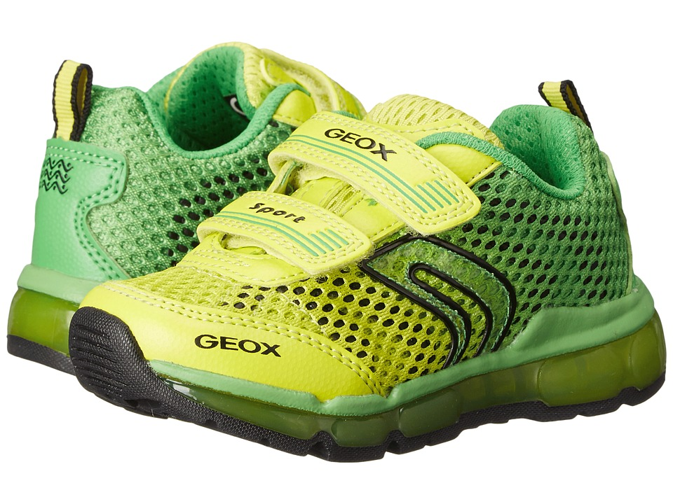 Geox Kids - Jr Android Boy 7 (Toddler/Little Kid) (Green/Lime) Boy's Shoes