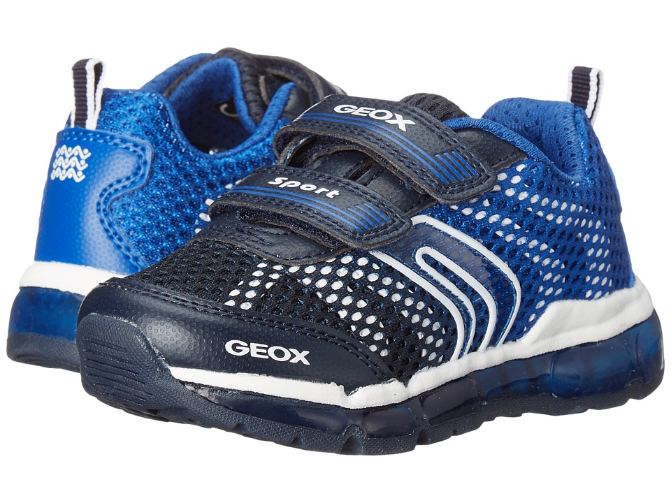 Geox Kids - Jr Android Boy 7 (Toddler/Little Kid) (Navy/Royal) Boy's Shoes