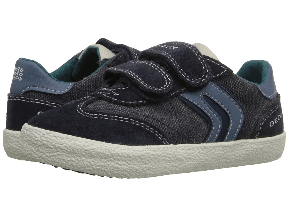 Geox Kids - Jr Kiwiboy 48 (Toddler/Little Kid) (Navy/Blue) Boys Shoes