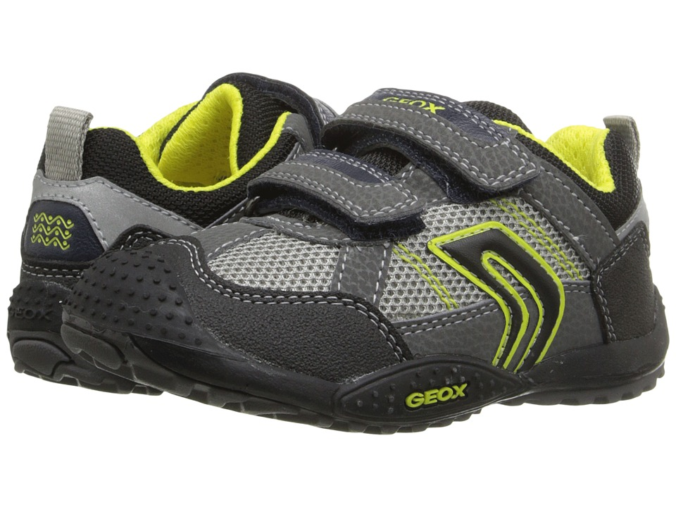 Geox Kids - Jr Marlon 8 (Toddler/Little Kid) (Grey/Lime) Boy's Shoes