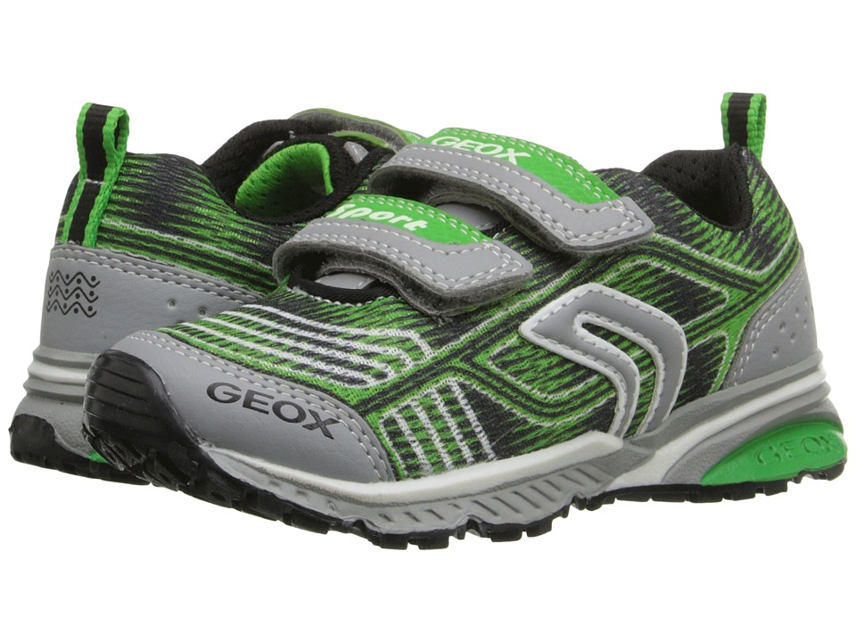 Geox Kids - Jr Bernie 11 (Toddler/Little Kid) (Green/Light Grey) Boy's Shoes