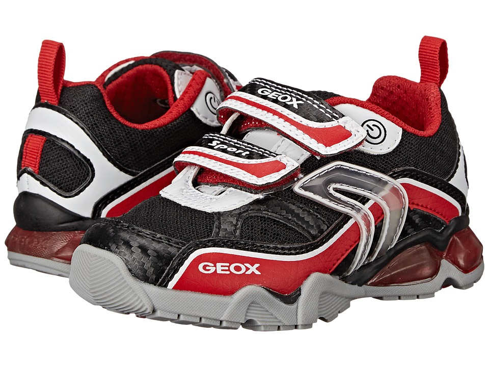Geox Kids - Jr Light Eclipse 2BO1 (Toddler/Little Kid) (White/Red) Boy's Shoes