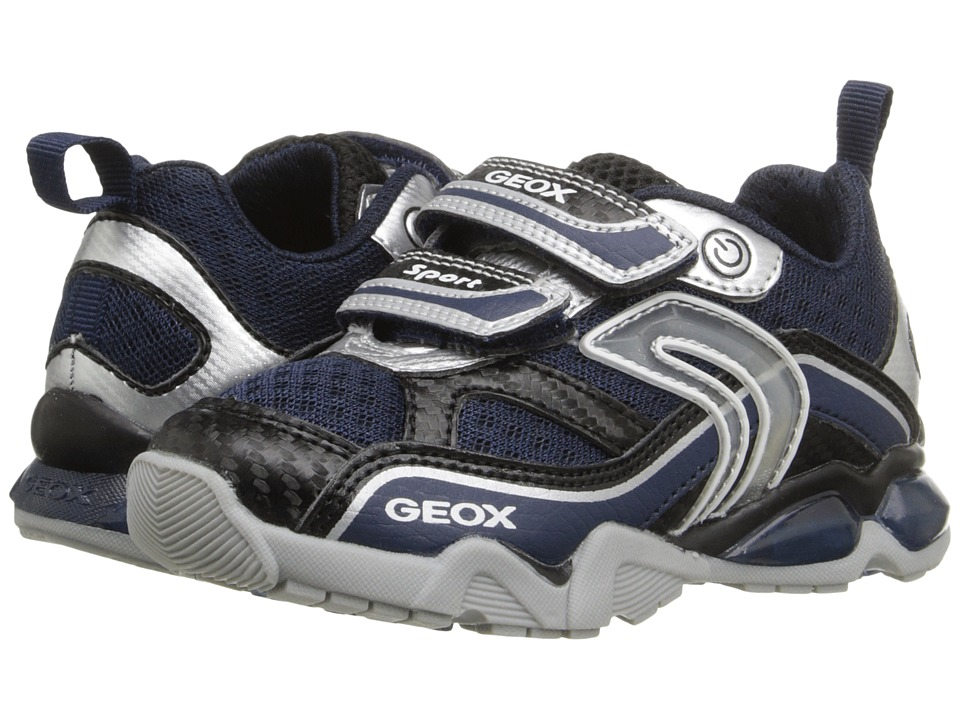Geox Kids - Jr Light Eclipse 2BO1 (Toddler/Little Kid) (Navy/Silver) Boy's Shoes