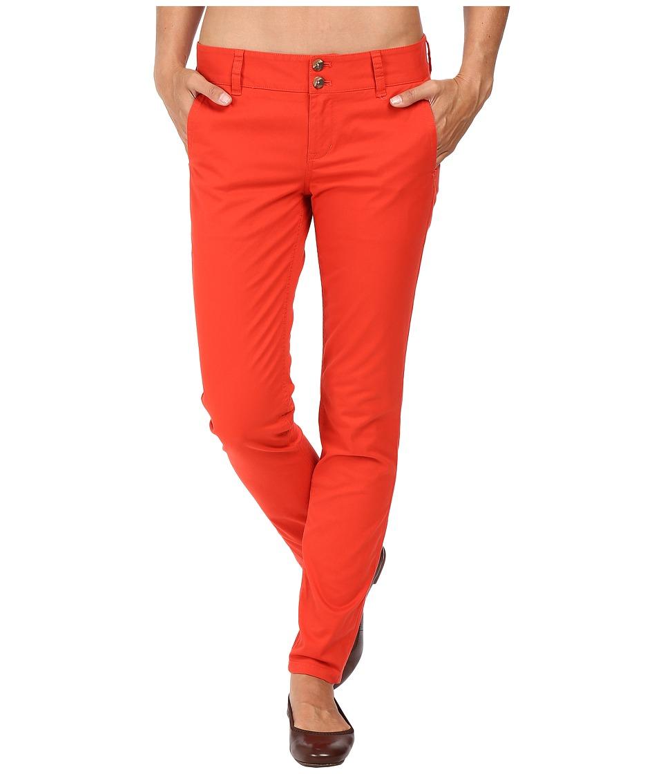 Mountain Khakis - Sadie Skinny Chino Pants (Tomato) Women's Casual Pants