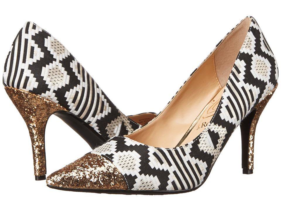 J. Renee - Ryenne (Cream/Gold/Black) Women's Shoes