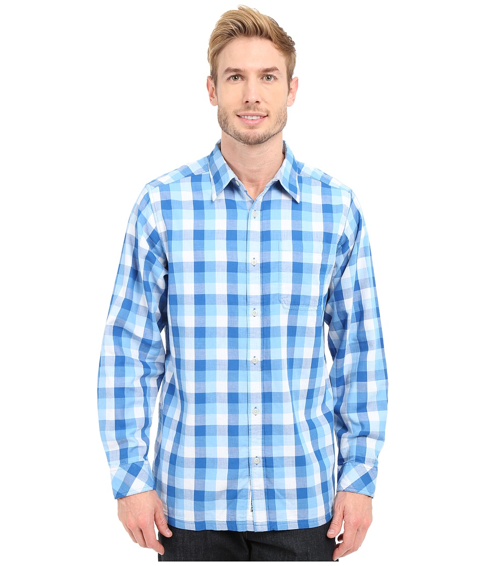 Mountain Khakis - Two Ocean L/S Shirt (Cowboy Blue) Men's Long Sleeve Button Up