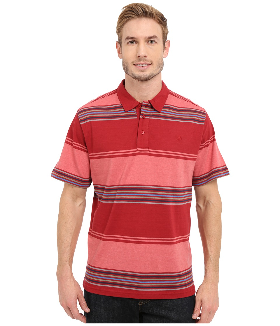Mountain Khakis - Sunset Polo Shirt (Cardinal) Men's Short Sleeve Pullover