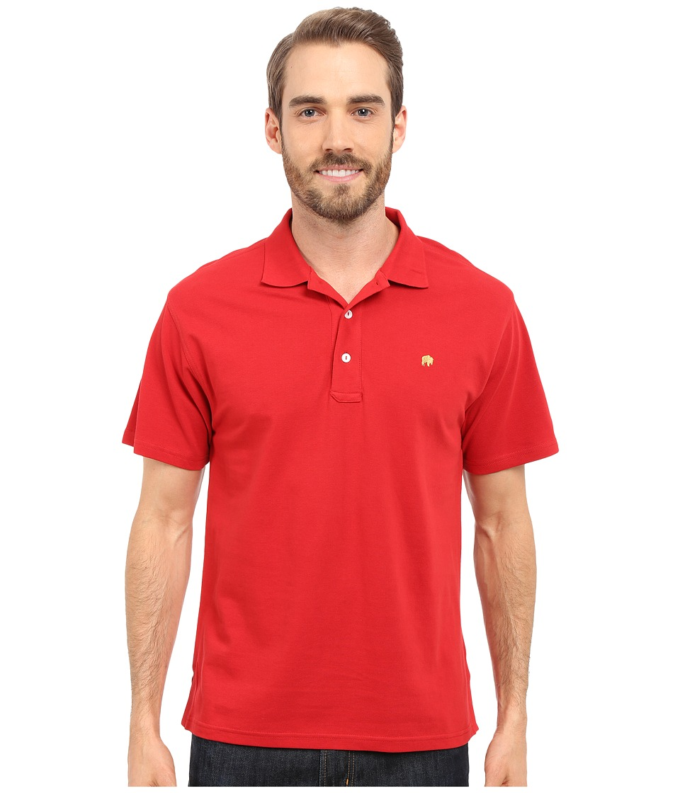 Mountain Khakis - Bison Polo Shirt (Engine Red) Men's Short Sleeve Pullover