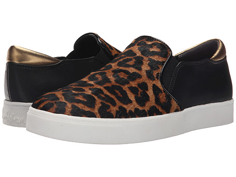 Sam Edelman - Miles (Brown/Black Sahara Leopard Brahma Hair/Oily Velour Suede) Women's Slip on Shoes