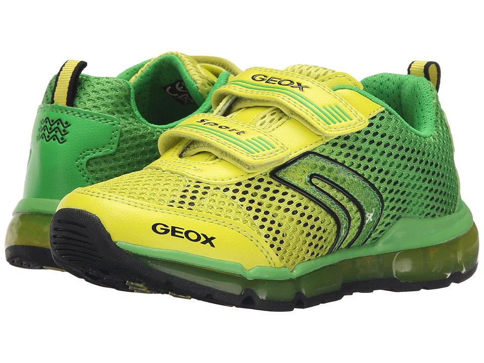 Geox Kids - Jr Android Boy 7 (Little Kid/Big Kid) (Green/Lime) Boy's Shoes