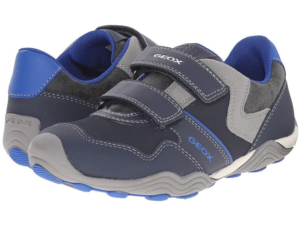 Geox Kids - Jr Arno 13 (Little Kid/Big Kid) (Navy/Royal) Boy's Shoes