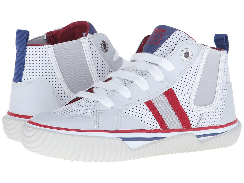 Geox Kids - Jr Australis Boy 1 (Little Kid/Big Kid) (White/Red) Boys Shoes