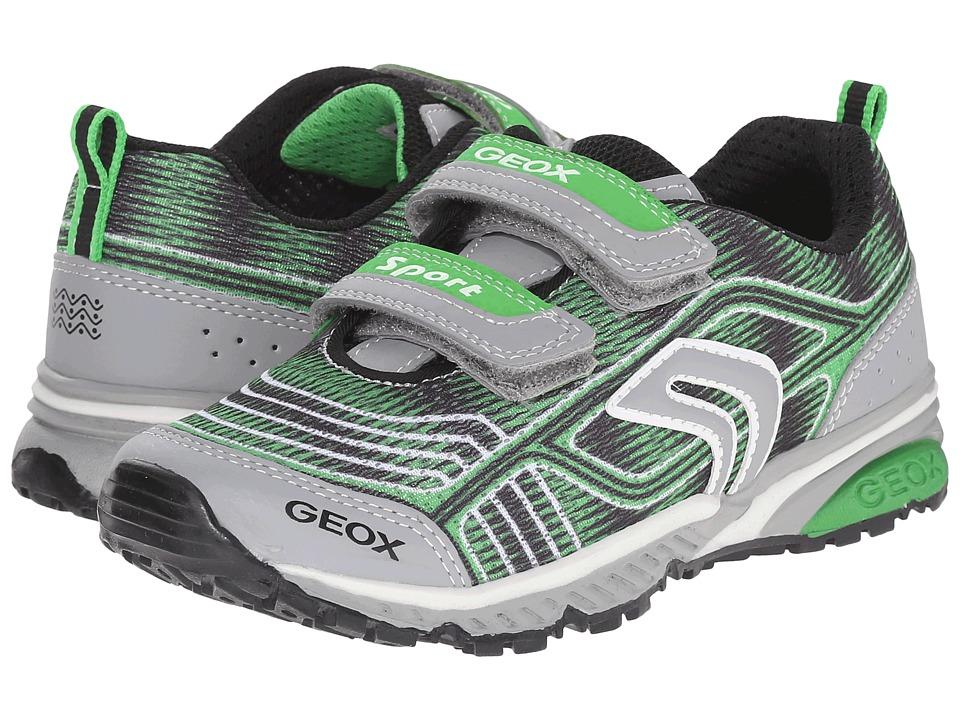 Geox Kids - Jr Bernie 11 (Little Kid/Big Kid) (Green/Light Grey) Boy's Shoes