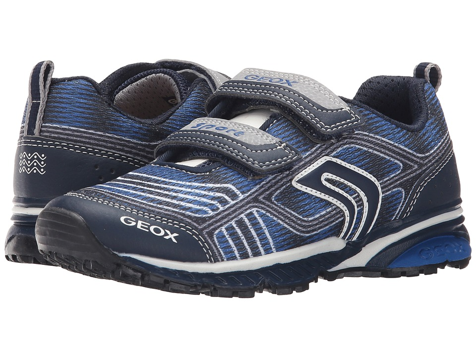 Geox Kids - Jr Bernie 11 (Little Kid/Big Kid) (Navy/Royal) Boy's Shoes