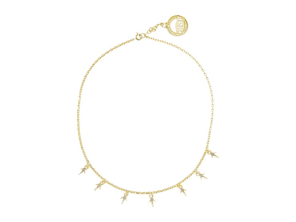 Giles & Brother - Pave Thorn Necklace (Gold Finished Brass/Clear Cystal) Necklace
